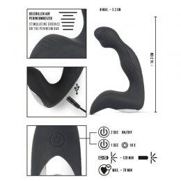 Rebel Gear prostatos masažuoklis vyrams (juoda)