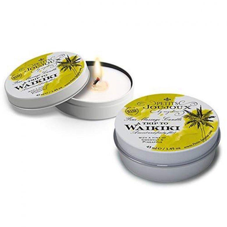 Petits Joujux masažo žvakė (kokosų ir ananasų)