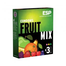 ESP Fruit Mix prezervatyvai (3 vnt)