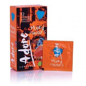 Adore Mixed Flavors prezervatyvai (12 vnt.)