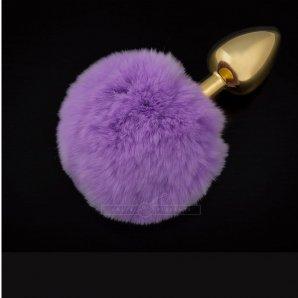 Analinis kaištis Bunny Tail (purpurinis)
